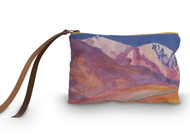 Clutches - TIERRA PRINTED LINEN POUCH - MAISON LEVY