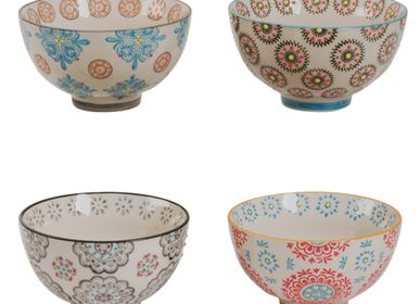 Bowls - Set of 4 cups 11CM BOHEME - TABLE PASSION - BASTIDE