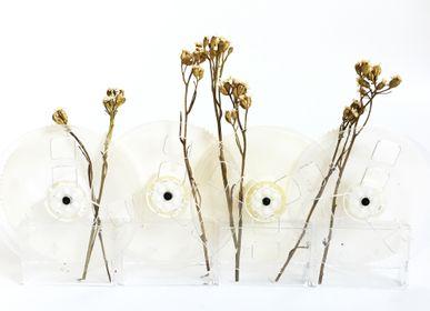 Flower pots - Flower Vase made of vintage film reel  - REHYPHEN