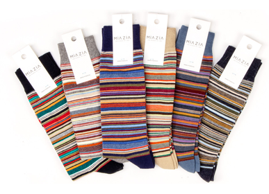 Socks - Striped socks for men - MIA ZIA