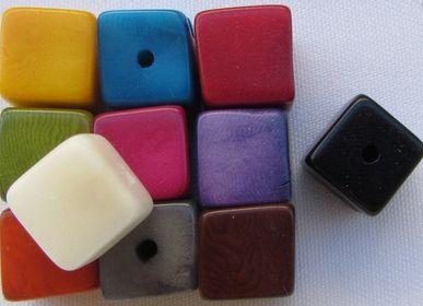 Pochettes - Cubes en Tagua. Ivoire végétal - TIERRATAGUA & CREATIERRA