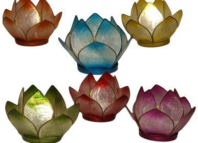 Decorative objects - Mother-of-pearl lotus tealight - LA COMMANDERIE