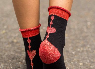 Socks - HEART C & C RED - CLOVIS & CLOTHILDE PARIS