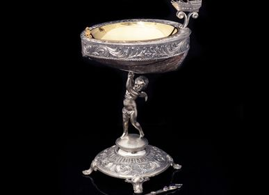 Decorative objects - Amour Silver Caviar Server - ORMAS GROUP