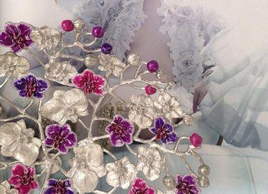 Platter, bowls - Enamel Orchid Platter - 5IVE SIS