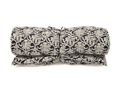 Throw blankets - FUTON BLOCK PRINT Voile - BAOBAB