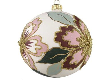 Christmas decoration - Hand painted Christmas decorations in Rose - KOUSTRUP & CO