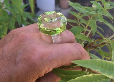 Bijoux - Bague Ice cube - SILICE CREATION
