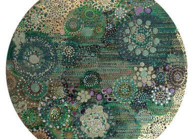 "Wall decoration - Decorative panel ""meadow flowers"" - VALERIE BEAUMONT"