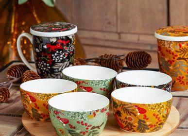 """Tasses et mugs - Mugs et Plateau apéritif """"Sous Bois""""  - AMADEUS"""