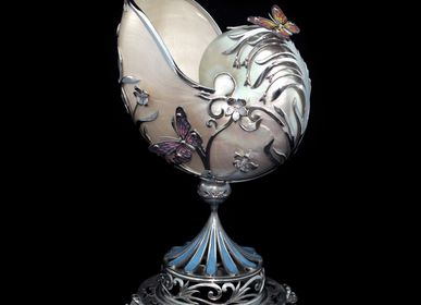 Jewelry - Symphony Silver Vase with Sea Shell and Enamel - ORMAS GROUP