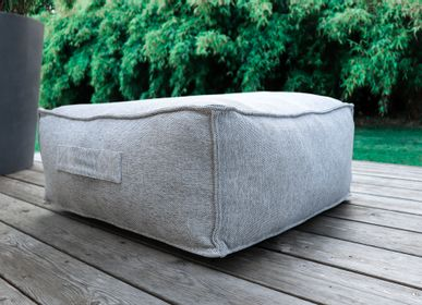 Lawn sofas   - Puff - C2 collection - TROIS POMMES HOME - OUTDOOR LOUNGE FURNITURE