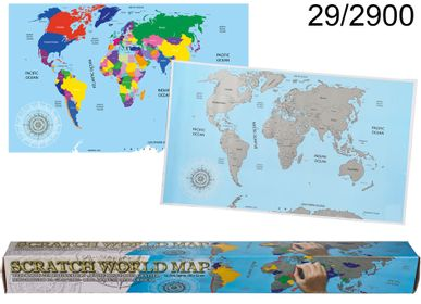 Personalizable objects - World map for scratching - OUT OF THE BLUE