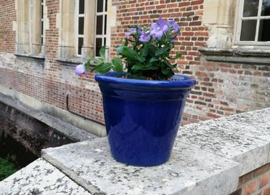 Flower pots - Sèvres Blue Florentine Pot - MANUFACTURE NORMAND
