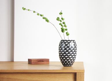 Bol - B&W Resonance Barrel Vase Big - SYNCHROPAINT