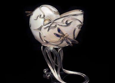 Jewelry - Spring Silver Vase with Enamel and Sea Shell - ORMAS GROUP
