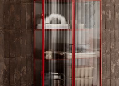 Consoles - Haze Vitrine - Reeded glass Poppy Red - FERM LIVING