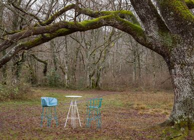 Lawn chairs - OLIVO Stool - ISIMAR