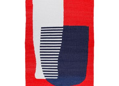 Contemporary - RED large cotton rug - TARTARUGA
