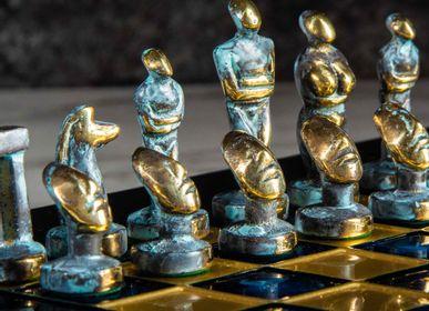 Jeux - Collection Premium ÉCHECS fait à la main Ensemble d'art cycladique - MANOPOULOS CHESS & BACKGAMMON
