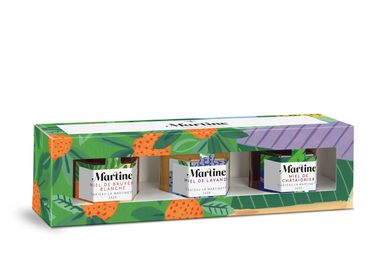 Delicatessen - Martine Tasting box of 3 honeys - MIEL MARTINE