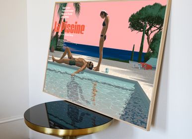 Poster - POSTER LA PISCINE - REGULAR - PLAKAT - DESIGNING MOVIE POSTERS -