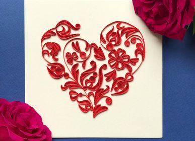 Papeterie - Cartes doubles quilling - PASCALE EDITIONS