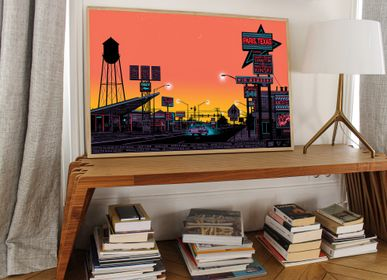 Poster - POSTER PARIS, TEXAS - SUNRISE - PLAKAT - DESIGNING MOVIE POSTERS -