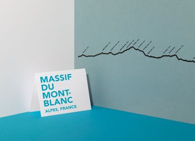 Wall decoration - Mountain silhouette - Mont-Blanc - THE LINE