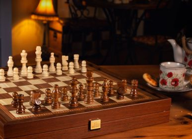Gift - CLASSIC STYLE - Jeu Combo 2 en 1 - Échiquier/Backgammon - MANOPOULOS CHESS & BACKGAMMON