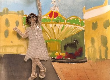 Personalizable objects - Embroidered portraits - MARIANNE BATLLE