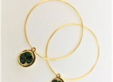 Jewelry - Clover Hoop Earrings - CARRÉ DE TRÈFLES