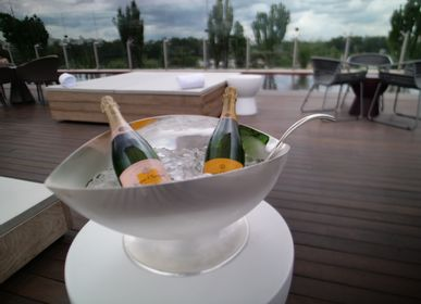 Orfèvrerie - Seau à Champagne Feuille - ORFEVRERIE ROYALE
