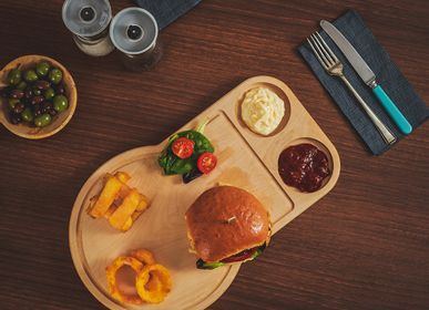 Platter, bowls - The Burger Board - THE WOOD LIFE PROJECT