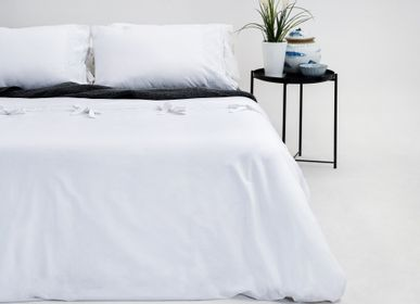 Bed linens - White Embellished Duvet Cover Set - MARSALA HOME ®