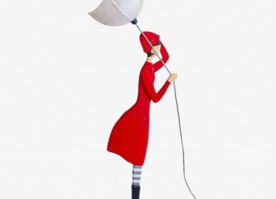 Sculpture - RED COAT |Girl floor lamp - SKITSO
