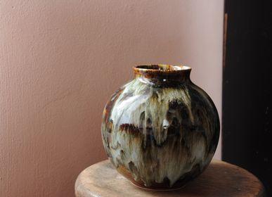 Objets de décoration - Vase en grès émail peint - CHRISTIANE PERROCHON