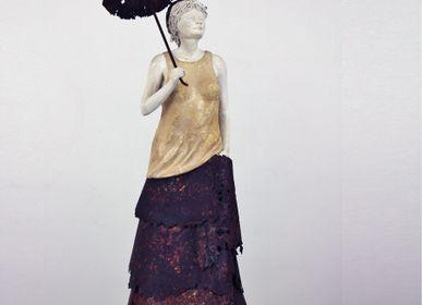 Sculpture - UNDER THE LACE UMBRELLA - BLANDINE ROSSA DESTOUCHES