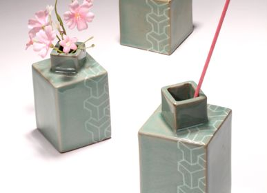 Ceramic - Tortoise Shell Pattern Ceramic Vase and candle Stand - WORKSHOP YEONHUI