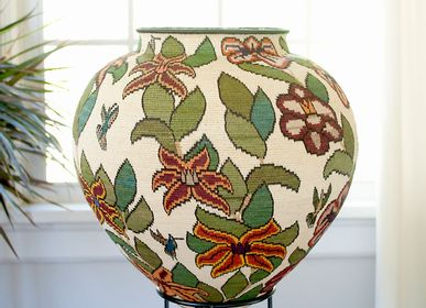 Decorative objects - Brisaiditas Rich Floral Wounaan Basket - RAINFOREST BASKETS