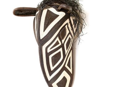 Decorative objects - Grande Black & White Embera Horse Mask - RAINFOREST BASKETS
