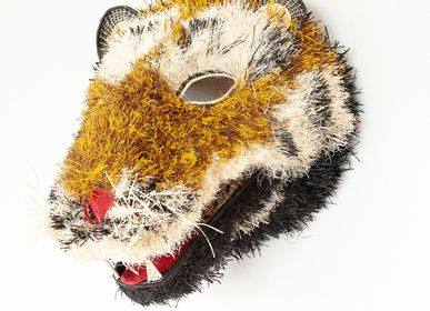 Decorative objects - Grande Fuzzy Tiger Mask by Embera Weaver - RAINFOREST BASKETS