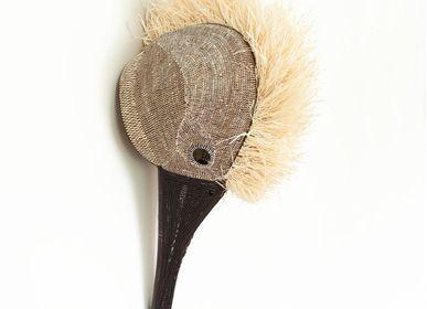 Decorative objects - White Haired Hummingbird Embera Mask  - RAINFOREST BASKETS