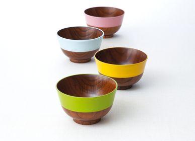 Everyday plates - Japanese Traditional color wooden soup bowls - HASHIFUKU