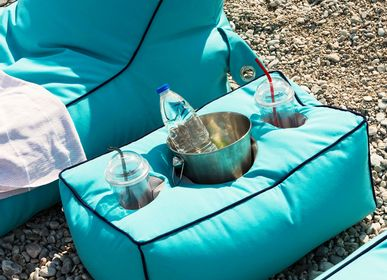 Outdoor pools - BEAN BAG LOUNGE CHAMPAGNE TABLE - POUFOMANIA