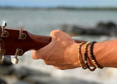 Jewelry - Bracelet Lui Hibiscus Jasper and Lava Silver 925 - FILAO BIJOUX