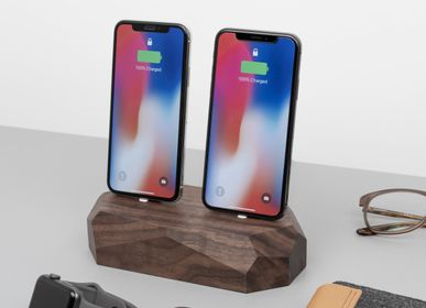 Furniture and storage - Wooden iPhone Dual dock - OAKYWOOD