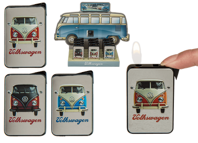Produits sous license - Briquet electronique en métal, VW Bus - OUT OF THE BLUE