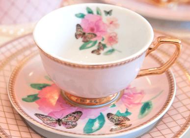 Tasses et mugs - Butterfly Garden - Tasse à thé et soucoupe - CRISTINA RE