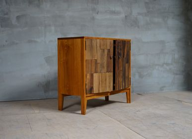 Chiffonniers - TWIN, the old wood door chest - SEEUAGAIN BY BIG FAME IND. CORP.